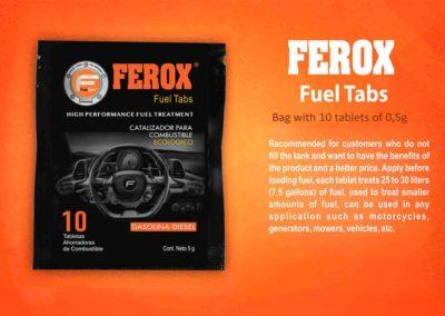 Ferox Fuel Tabs Sobre 10 medio gramo en