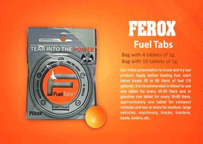 Ferox Fuel Tabs Sobre 4 10 EF en